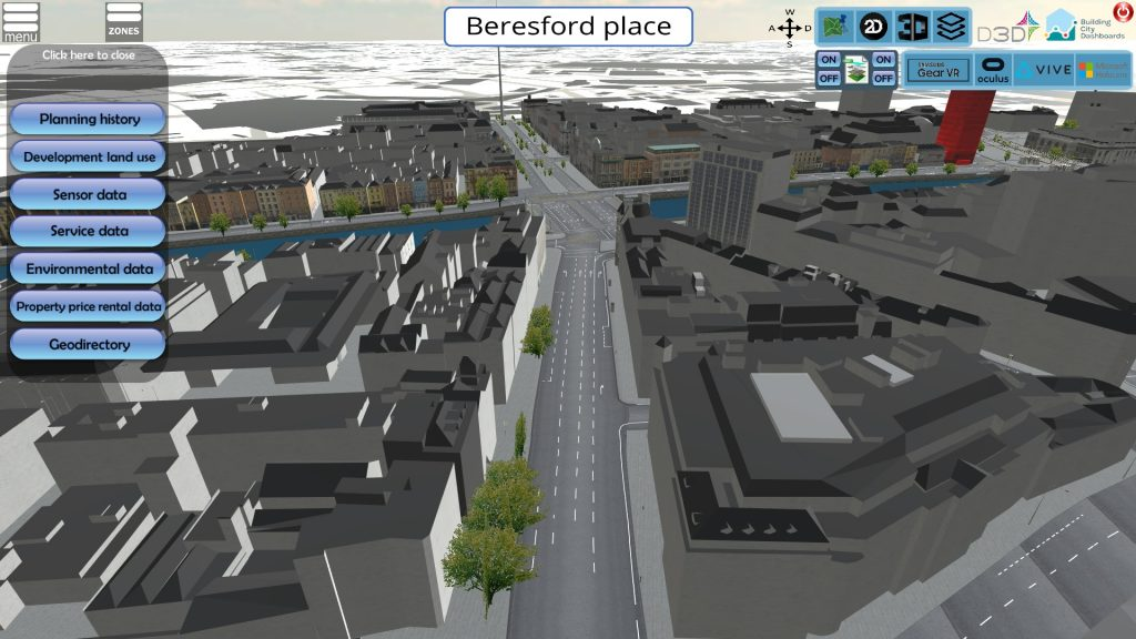 Screenshot of a 3D rendering of an urban environment.
